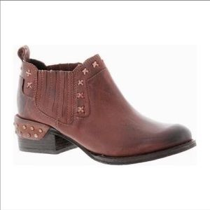 Naughty Monkey Miss M Rust Ankle Booties
